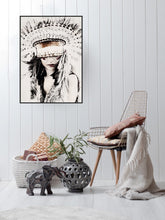 Load image into Gallery viewer, Boho Girl Framed Art - 93x65cm