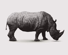 Load image into Gallery viewer, Rhino Canvas - 100x80cm