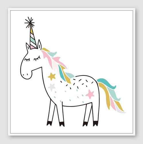 Unicorn Party Floating Frame - 30x30cm
