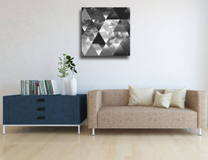 Wave of Triangles Canvas - 100x100cm