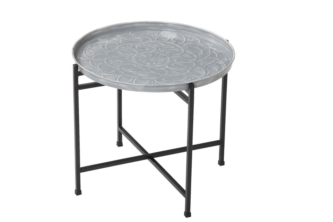 Fleur Enamel Side Table