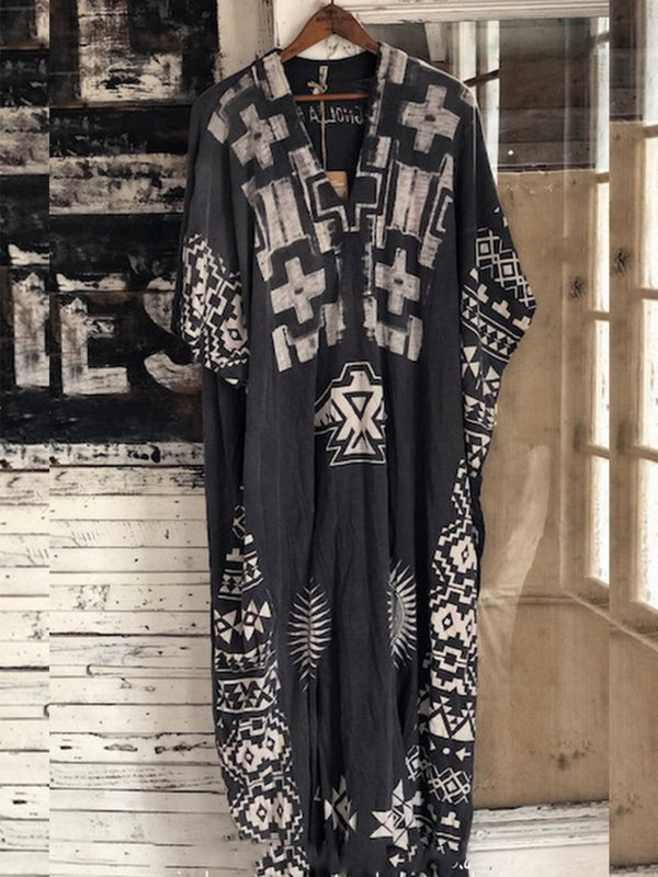 Women Casual Printed Tunic Maxi Dresses