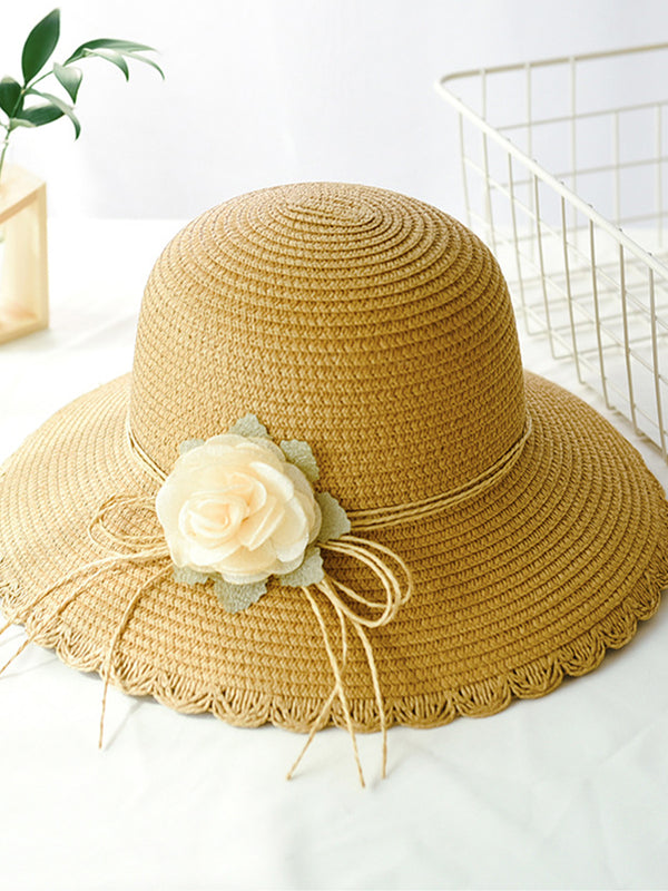 Casual Plain Holiday Daily Flower Summer Women Hat