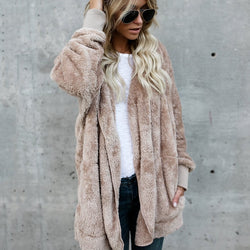 Cotton Long Sleeve Fluffy Outerwear