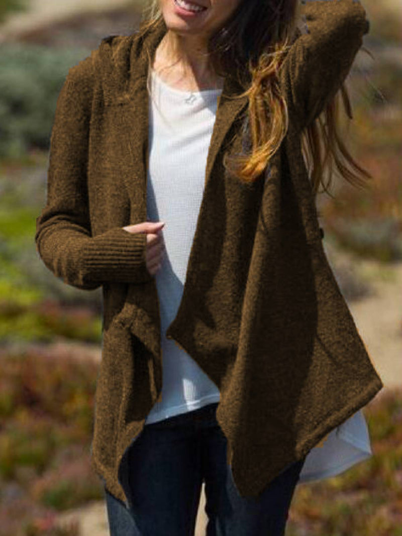 Long Sleeve Casual Cotton-Blend Outerwear