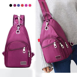Women  Waterproof Oxford Fabric Chest Bag Upgrade High-End Daily Crossbody Backpack