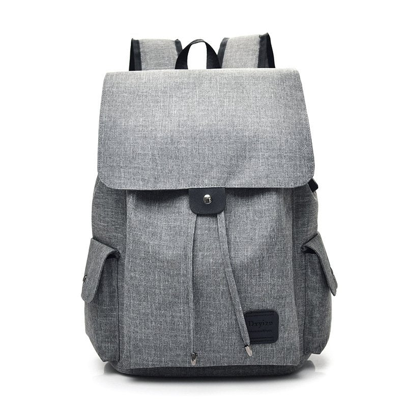 Women Canvas Backpack Casual USB Interface Charging Shoulder Bags For Teenager