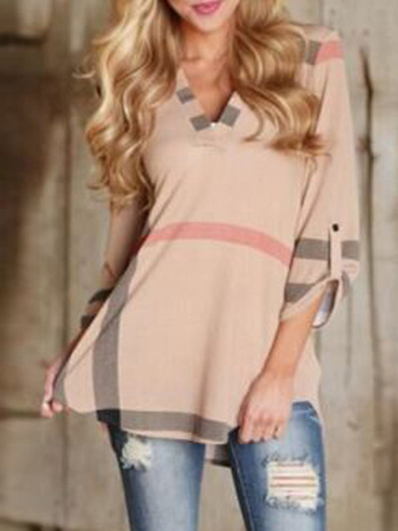 Pink Printed Casual Polyester Blouses & Shirt