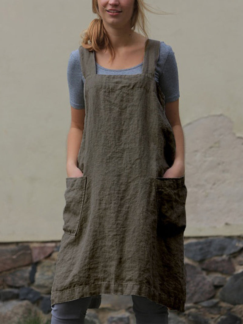 Fashion Loose Linen Long Dress
