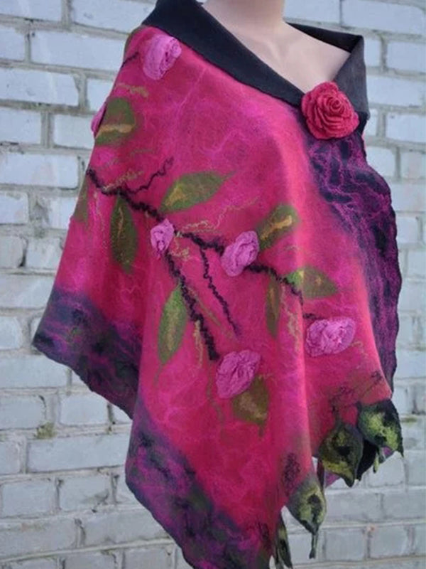 Rose Red Vintage Cotton Scarves & Shawls