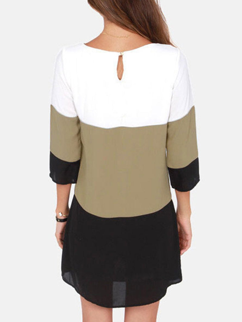 3/4 Sleeve Chiffon Casual Dress