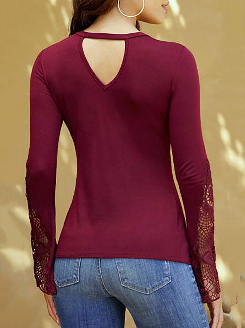 Elegant V Neck Tops
