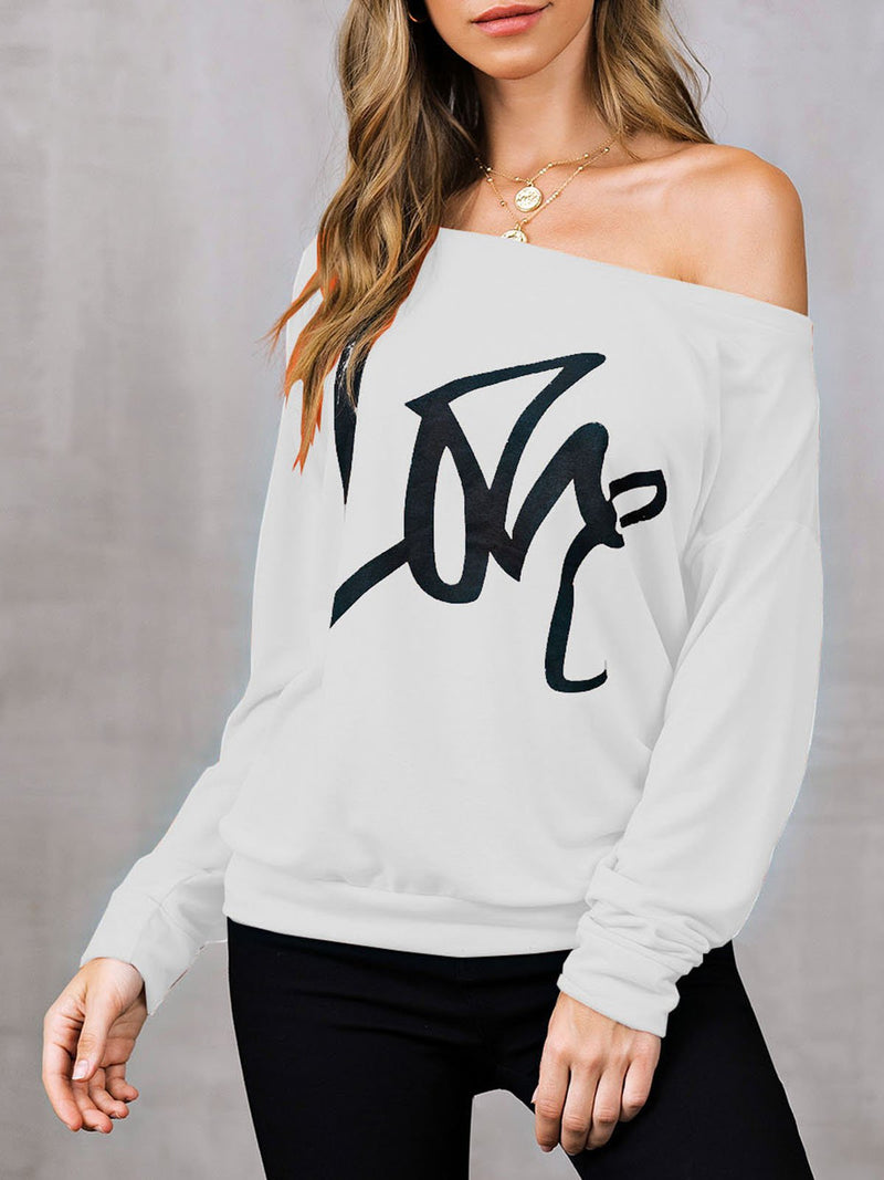 Long Sleeve Letter Shirts & Tops