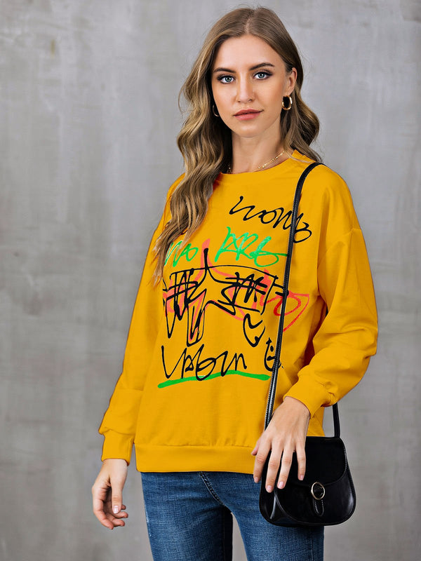 Shift Abstract Casual Crew Neck Sweatshirt
