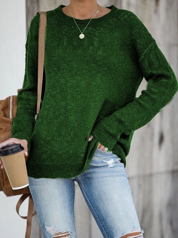 Black-Green Acrylic Sweater
