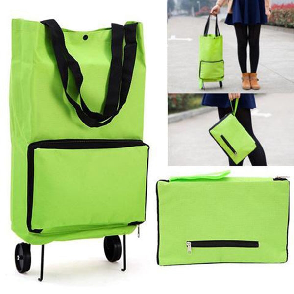 Protable Foldable Shopping Bag With Wheel Cart Shopping Trolley