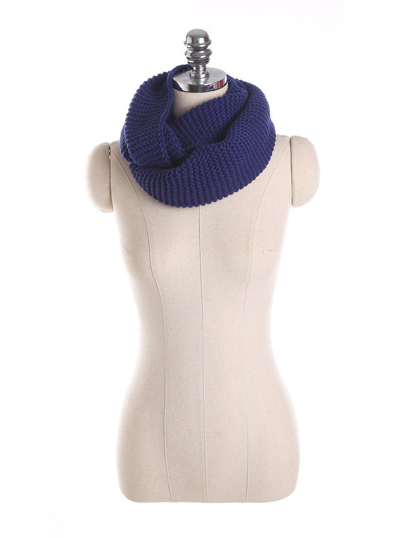Royal Blue Casual Solid Knitted Scarf