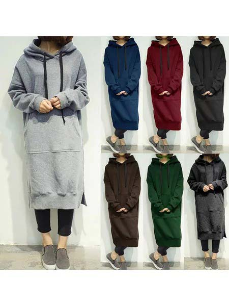 Pocket Casual Long Sleeve Plus Size Hoodie