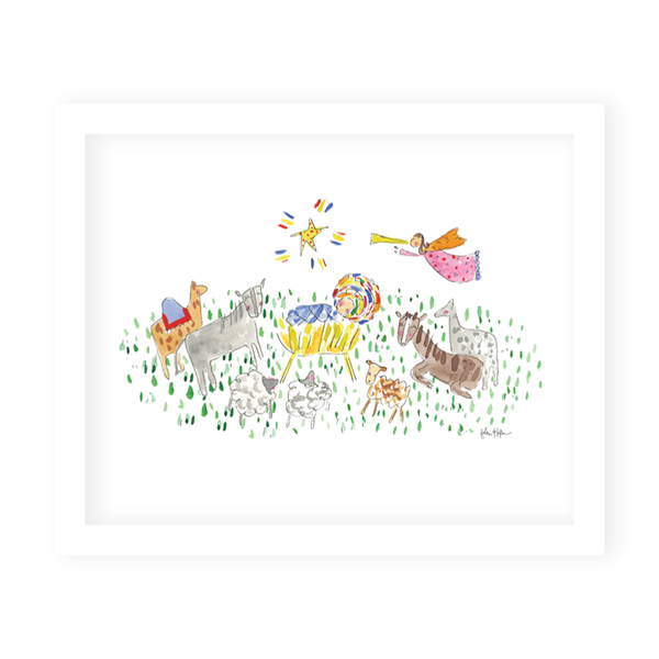 Away in a Manger Art Print