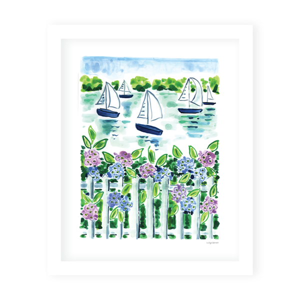 Nantucket Sailboats Art Print
