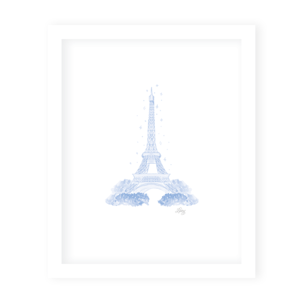 Parisian Picnic Eiffel Tower Art Print
