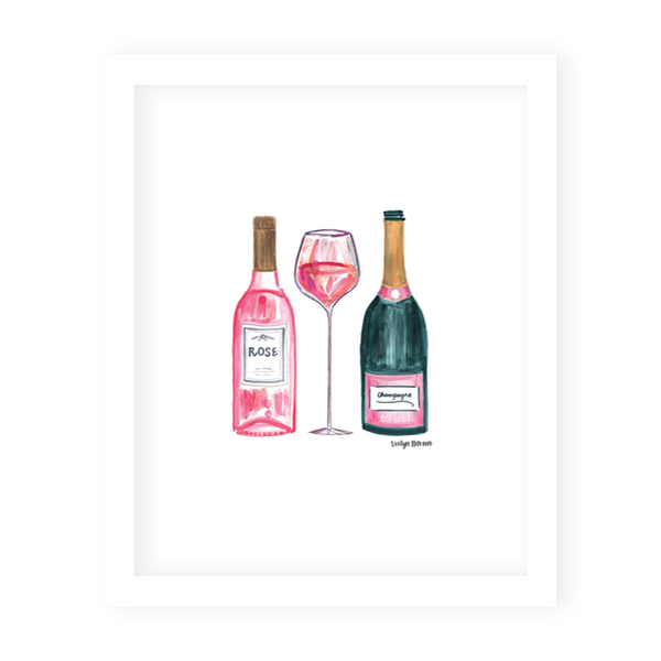 Champagne and Rosé Art Print