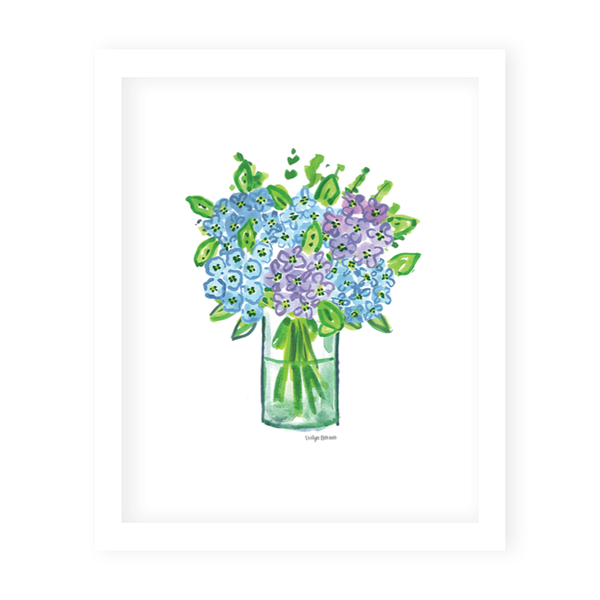 Nantucket Hydrangea Bunch Art Print
