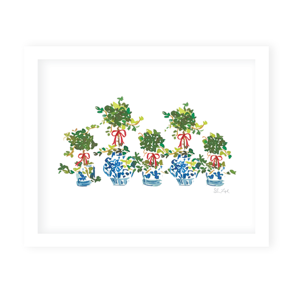 Ivy Topiaries Art Print