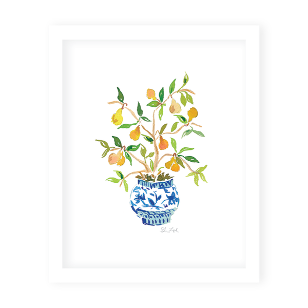Pear Topiary Art Print