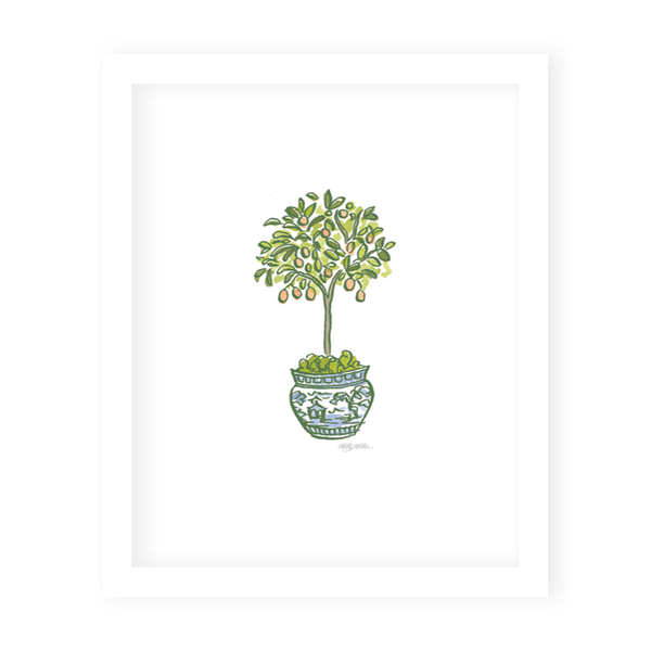 Topiary Trimmings Art Print