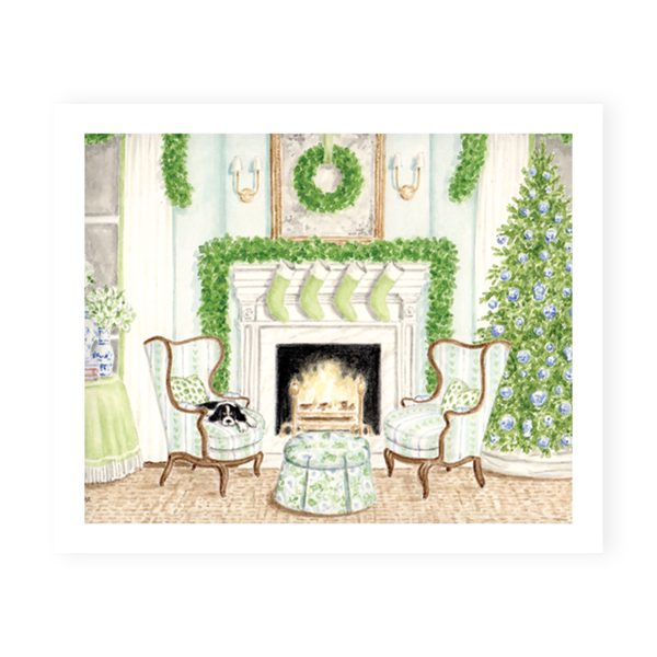 Fireplace Scene Art Print