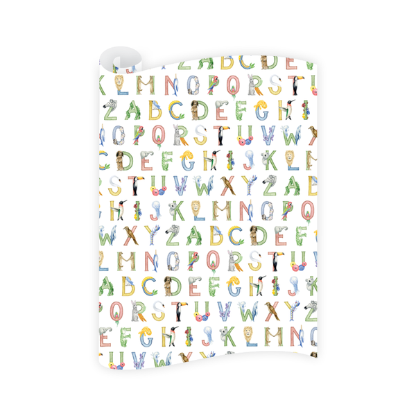 Animal Alphabet Wrapping Paper Roll