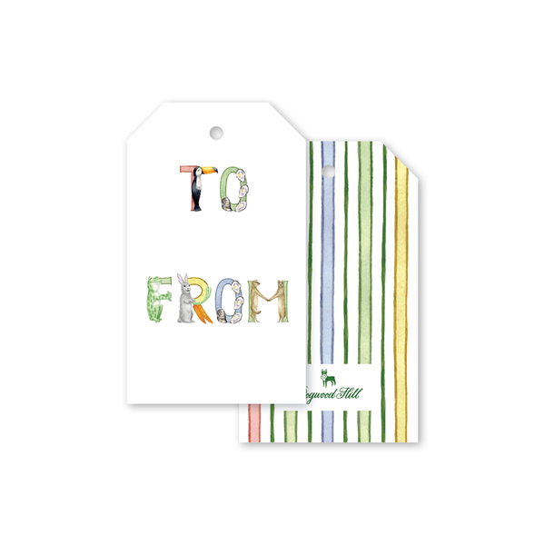 Animal Alphabet Gift Tags