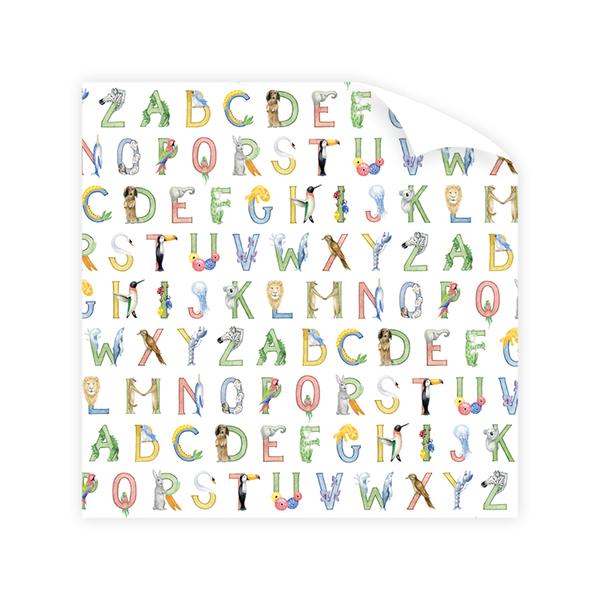 Animal Alphabet Wrapping Paper Sheet