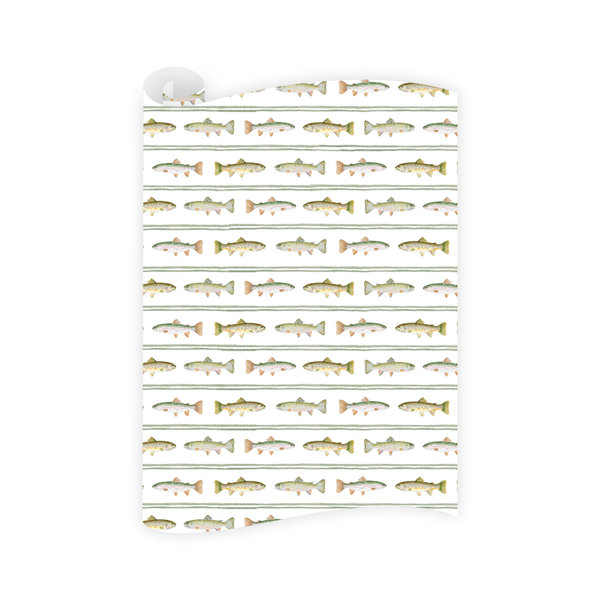 Fly Fishing Trout Wrapping Paper Roll