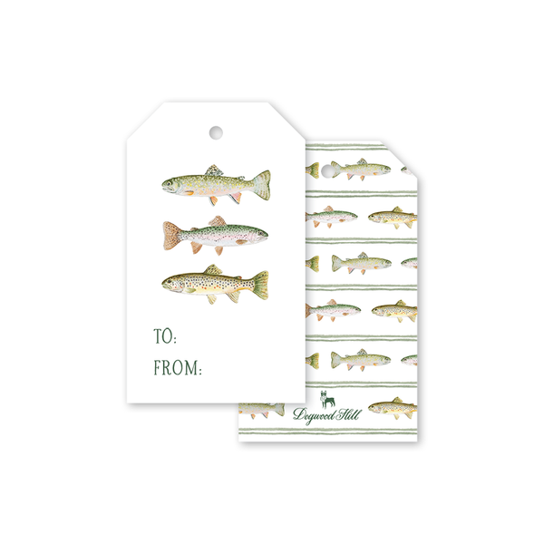 Fly Fishing Trout Gift Tags