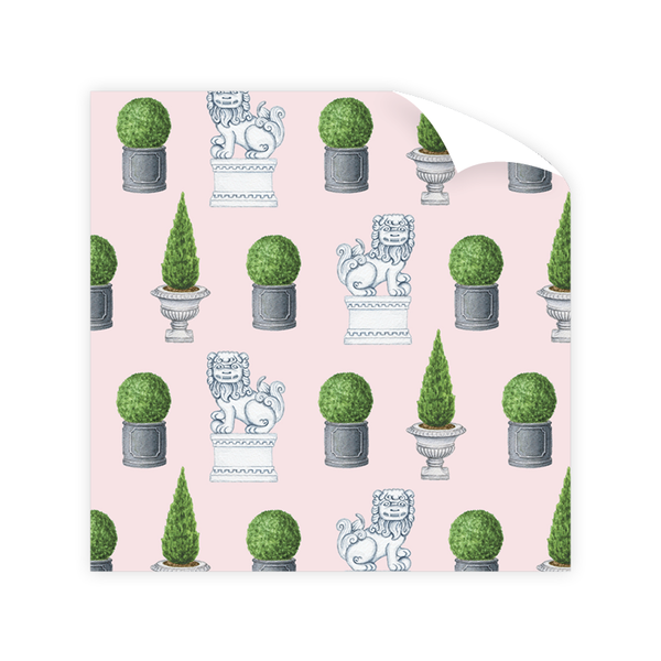 Savannah Gordon Street Foo Dogs Wrapping Paper Sheet