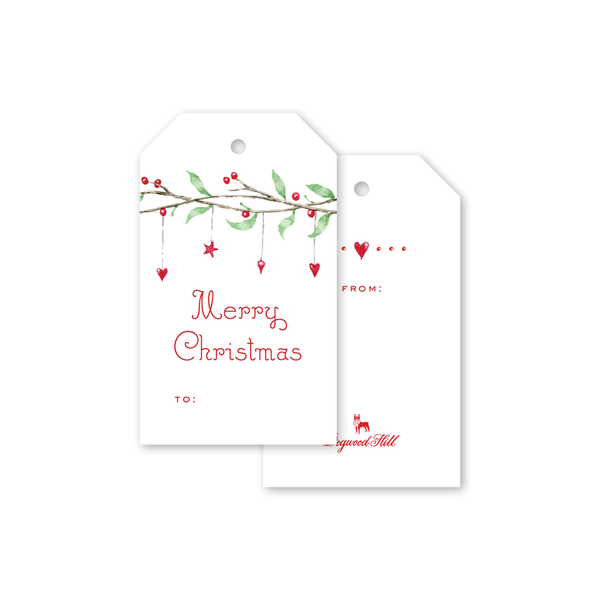 Berry Tinsel Gift Tags