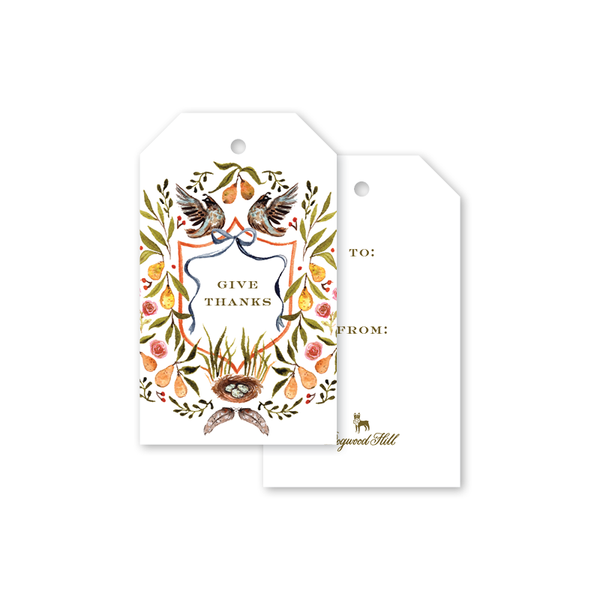 Partridge Crest Gift Tags