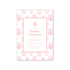 India Block Print Pink Imprintable Invitation