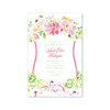 Pink Cosmos and Ladybug Crest Imprintable Invitation