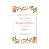 Autumn Paisley Imprintable Invitation