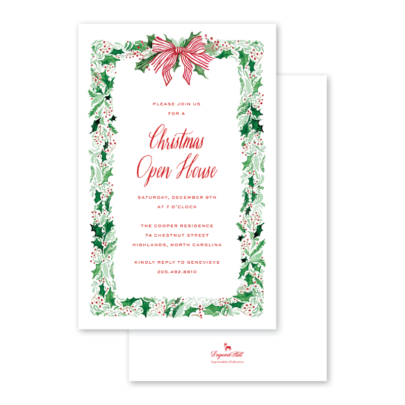 Berry Merry Imprintable Invitation