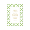 Boxwood Ribbon Gold Imprintable Invitation