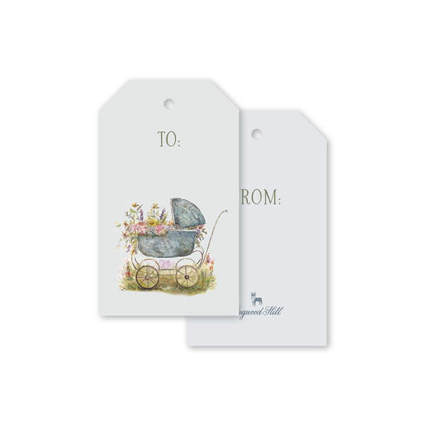 Baby Carriage Gift Tags