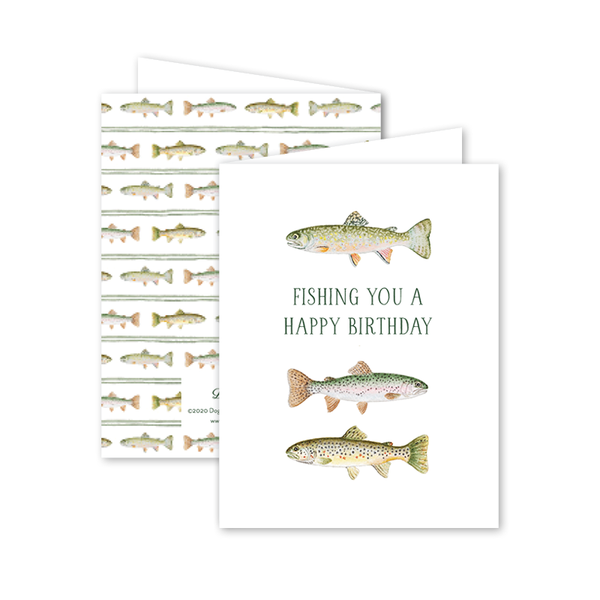 Fly Fishing Trout Birthday