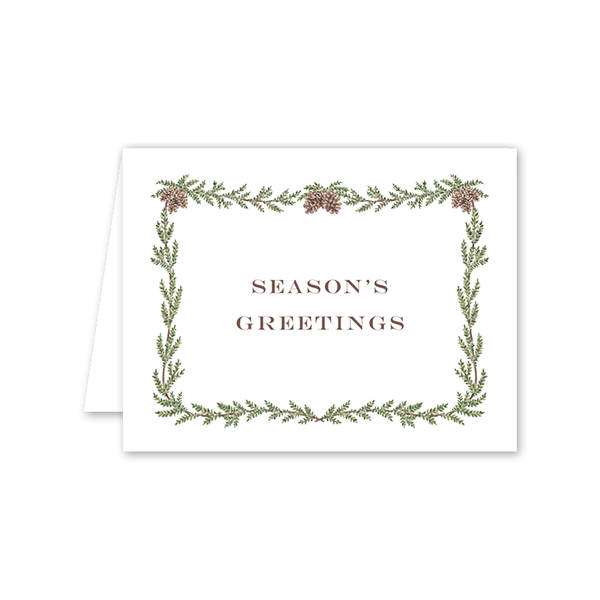 Pine Cone Garland Season's Greetings