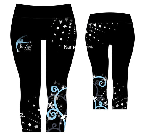 StarLight 3/4 length Capri leggings