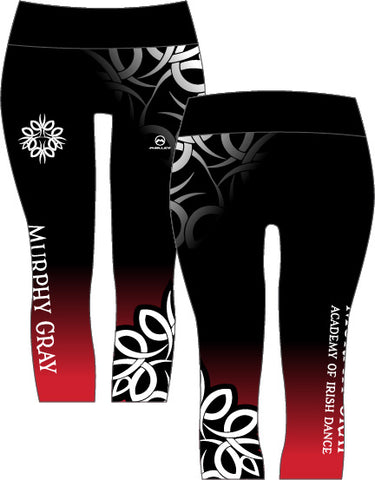 Murphy Gray Academy 3/4 length Capri leggings