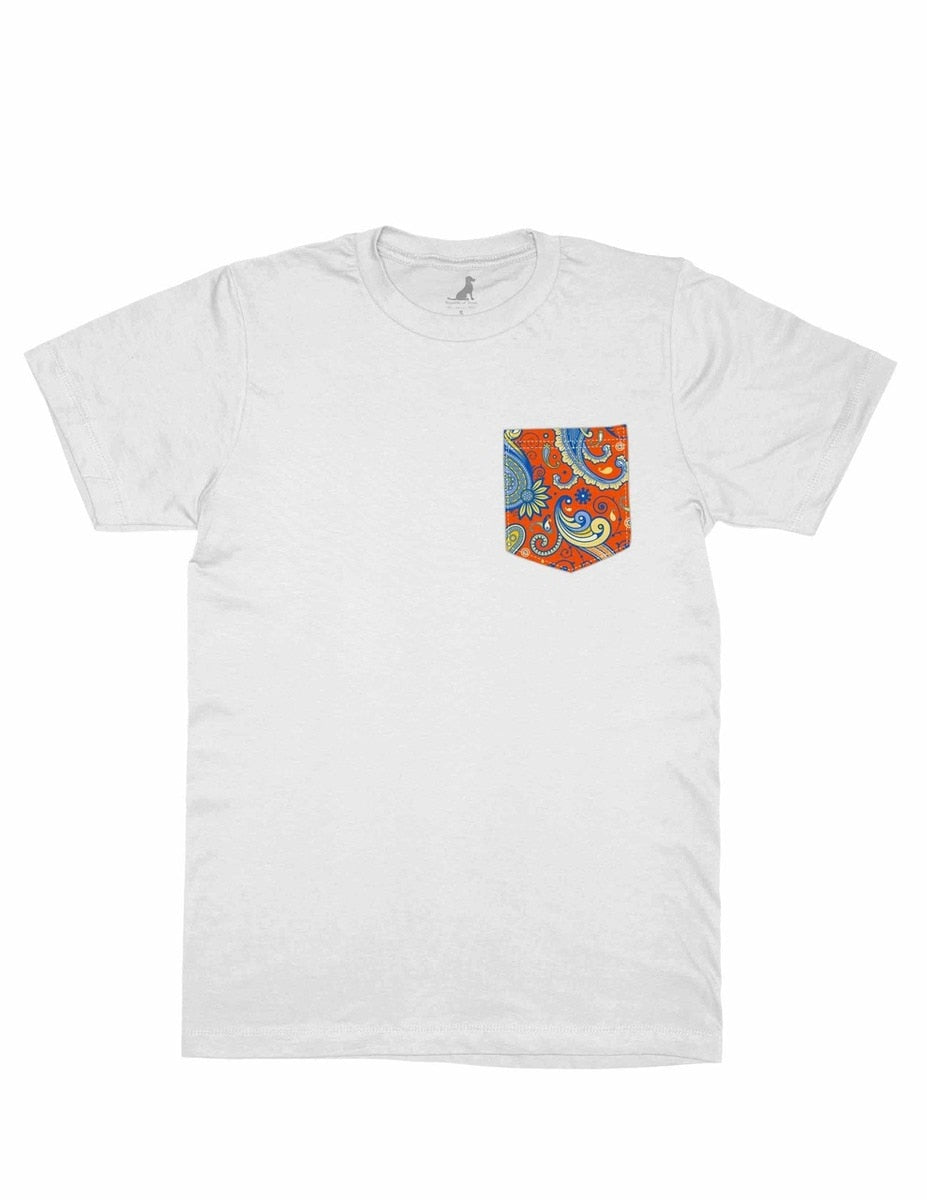 PAISLEY POCKET SECEDE WHITE SHIRT